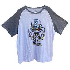 Disney Store Buzz Lightyear Mens Raglan T shirt